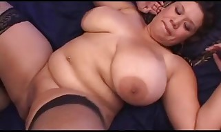 Latina Plumper with Enormous Jugs n Pantyhose Creampied