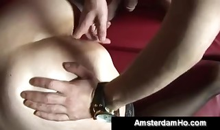 Chubby European mega-bitch gets fisted by crazy lean fellow - Xxx hook-up movie