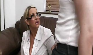 Super hot Splooged Salesgirl Has Punctured