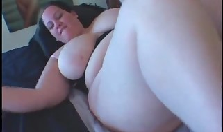 Buxom Plumper Lesbo Self Poking With A Large Fake penis