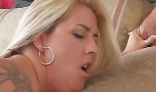 Chubby Tattoed Wifey Ravaged Large Pecker - Mature lovemaking movie