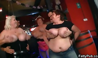 Hefty Chicks Have Joy At The Party