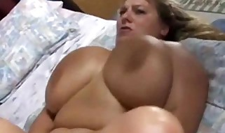 Thick housewife with epic fat hooters