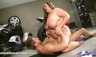 Veronica Vaughn - Platinum-blonde Plumper Fuckslut in Swimsuit Torn up Rock hard on Motorcycle